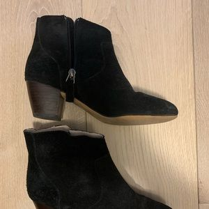 Wythe NY black suede booties